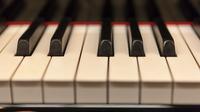 Piano tasten nah