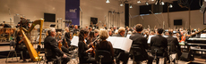 Orchester auf buehne