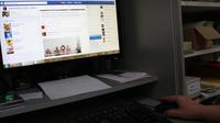Computerbildschirm facebook geblurred n%c3%a4her