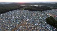 Campingplatz vogelperspektive