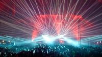 Lasershow blaurot